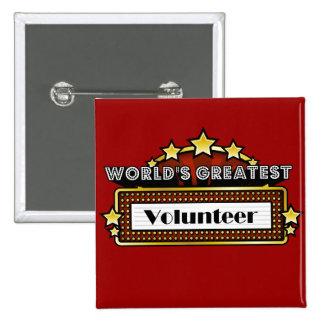 World's Greatest Volunteer 15 Cm Square Badge