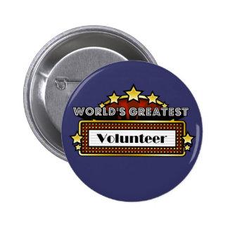 World's Greatest Volunteer 6 Cm Round Badge