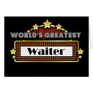 World's Greatest Waiter Greeting Card