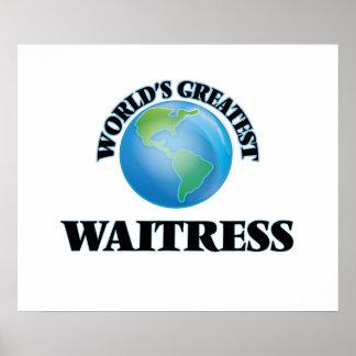 World's Greatest Waitress Print