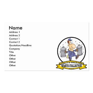 WORLDS GREATEST WASTE COLLECTOR MEN CARTOON BUSINESS CARD