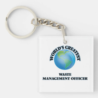 World's Greatest Waste Management Officer Square Acrylic Key Chain