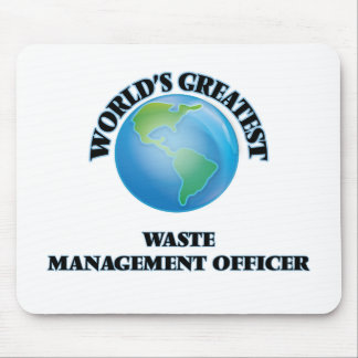 World's Greatest Waste Management Officer Mousepad