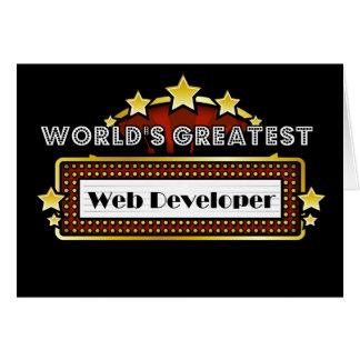 World's Greatest Web Developer Card
