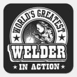 World's Greatest Welder In Action Square Sticker