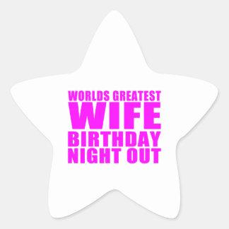Worlds Greatest Wife Birthday Night Out Star Sticker
