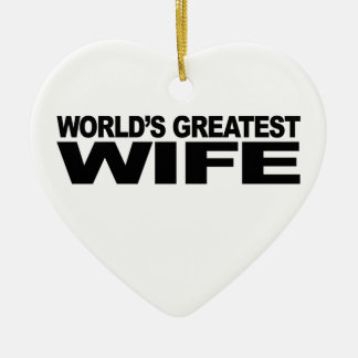 World's Greatest Wife Christmas Ornament