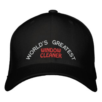 WORLD'S GREATEST, WINDOW CLEANER EMBROIDERED CAP