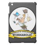 WORLDS GREATEST WORKAHOLIC MEN CARTOON iPad MINI COVER