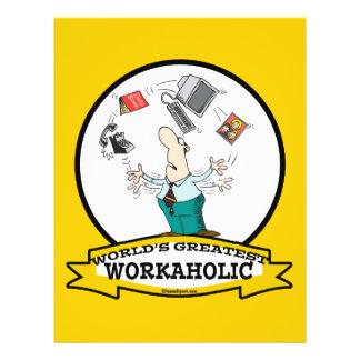 WORLDS GREATEST WORKAHOLIC MEN II CARTOON FLYER DESIGN