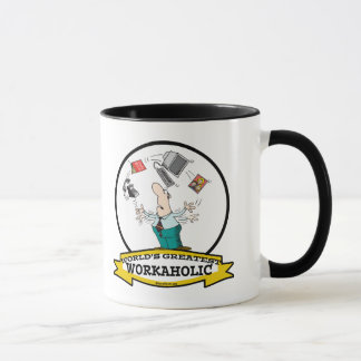 WORLDS GREATEST WORKAHOLIC MEN II CARTOON MUG