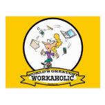 WORLDS GREATEST WORKAHOLIC WOMEN CARTOON