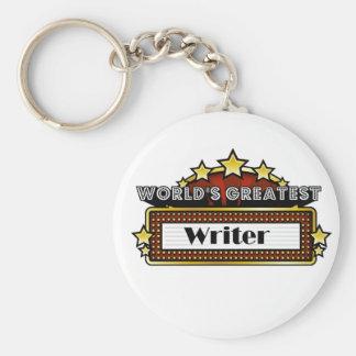 World's Greatest Writer Basic Round Button Key Ring