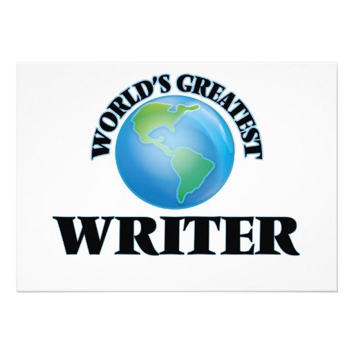 World's Greatest Writer Announcements