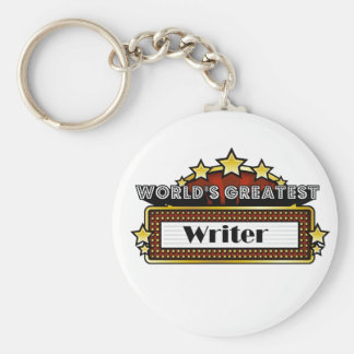 World's Greatest Writer Key Ring
