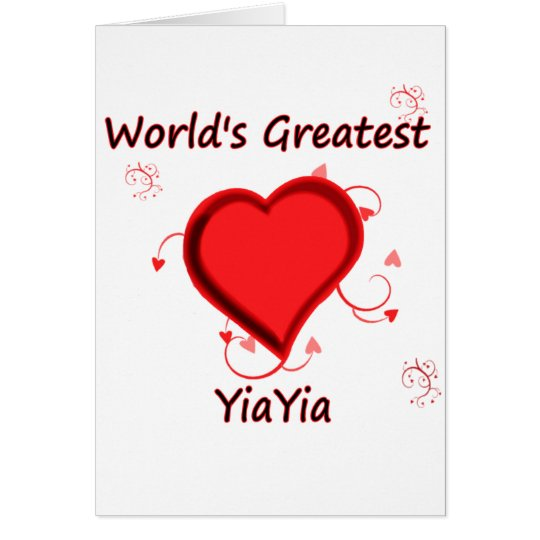 World's Greatest yiayia Card