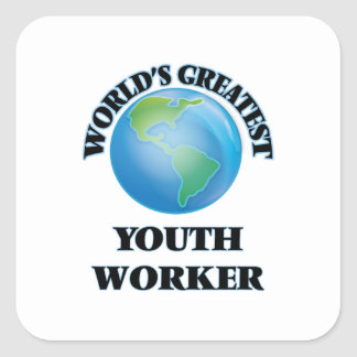 World's Greatest Youth Worker Square Sticker