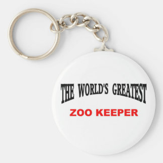 World's Greatest Zoo Keeper Basic Round Button Key Ring