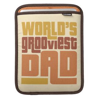 World's Grooviest Dad Retro Funny iPad Sleeve