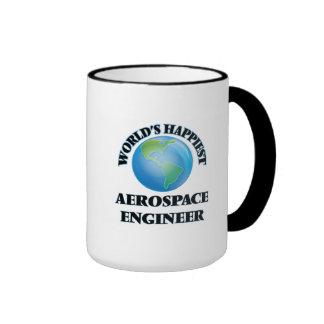 World's Happiest Aerospace Engineer Ringer Coffee Mug