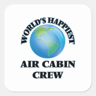World's Happiest Air Cabin Crew Square Sticker