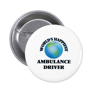 World's Happiest Ambulance Driver 6 Cm Round Badge