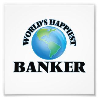 World's Happiest Banker Photo Print