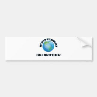 World's Happiest Big Brother Bumper Sticker