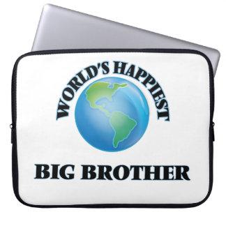 World's Happiest Big Brother Laptop Sleeve
