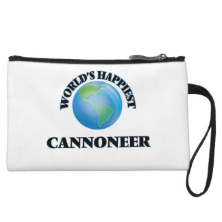 World's Happiest Cannoneer Wristlet Clutches