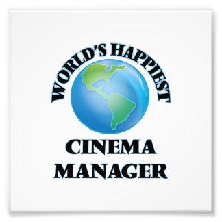 World's Happiest Cinema Manager Photo Print