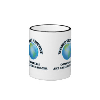 World's Happiest Commercial Art Gallery Manager Ringer Coffee Mug