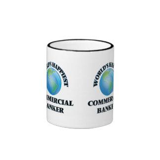 World's Happiest Commercial Banker Ringer Coffee Mug