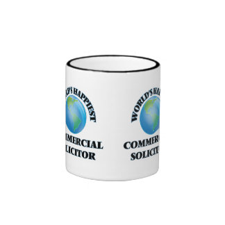 World's Happiest Commercial Solicitor Ringer Coffee Mug