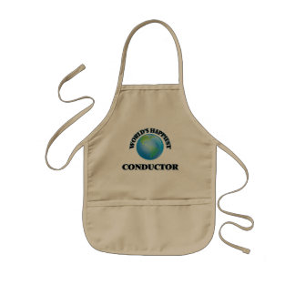 World's Happiest Conductor Kids Apron