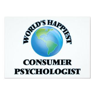 World's Happiest Consumer Psychologist 5x7 Paper Invitation Card