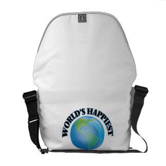 World's Happiest Cosmonaut Messenger Bags