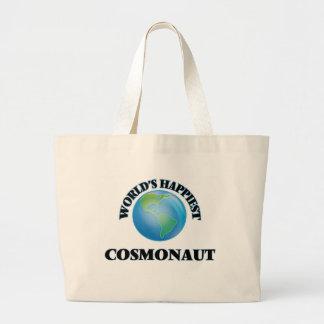 World's Happiest Cosmonaut Jumbo Tote Bag