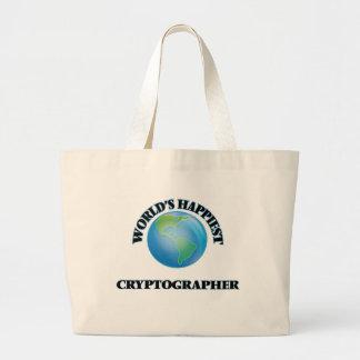 World's Happiest Cryptographer Jumbo Tote Bag