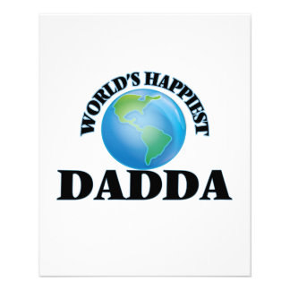 World's Happiest Dadda 11.5 Cm X 14 Cm Flyer