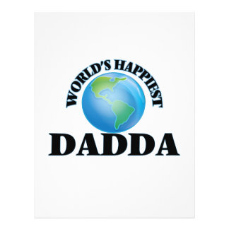 World's Happiest Dadda 21.5 Cm X 28 Cm Flyer