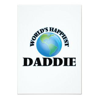 World's Happiest Daddie 13 Cm X 18 Cm Invitation Card