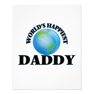 World's Happiest Daddy 11.5 Cm X 14 Cm Flyer
