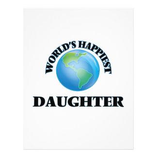 World's Happiest Daughter 21.5 Cm X 28 Cm Flyer