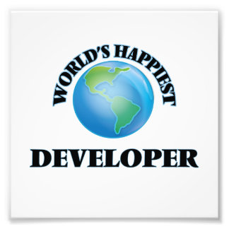 World's Happiest Developer Photo Art