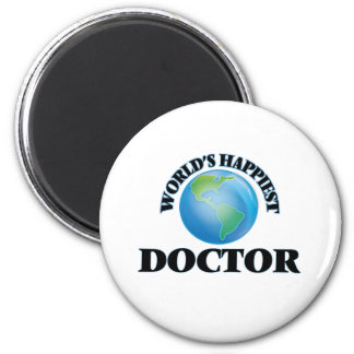 World's Happiest Doctor 2 Inch Round Magnet