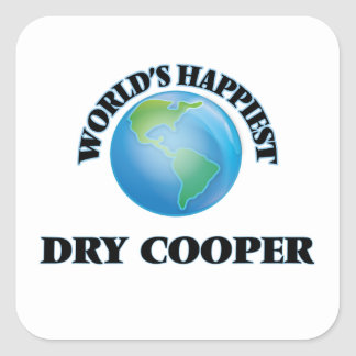 World's Happiest Dry Cooper Square Sticker