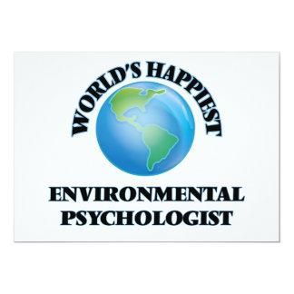 "World's Happiest Environmental Psychologist 5"" X 7"" Invitation Card"