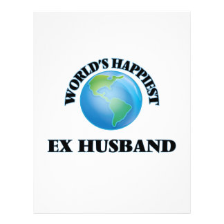 World's Happiest Ex-Husband 21.5 Cm X 28 Cm Flyer