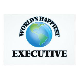 "World's Happiest Executive 5"" X 7"" Invitation Card"